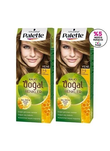 Palette Palette Kalıcı Doğal Renkler 7-5 Açık Karamelx 2 Paket Renkli